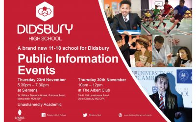 Information events on our new school in Didsbury